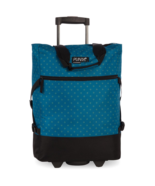 Punta bevásárlókocsi, gurulós táska, zipzárral, vállra vehető,